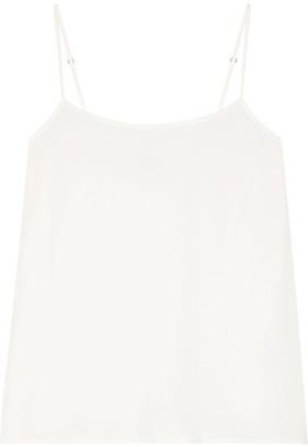 Equipment - Cara Washed-silk Camisole - Ivory $100 thestylecure.com