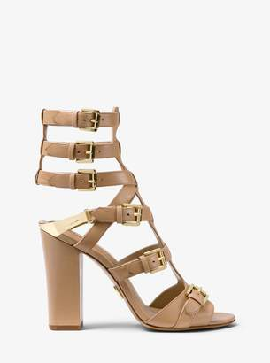 Michael Kors Paisley Calf Leather Sandal