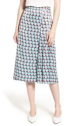 Halogen Pleat Detail Midi Skirt