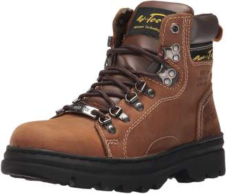 "AdTec Men's 6"" Work Hiker Boots with Steel Toe Slip Resistant Leather Construction Boot Crazy Horse"