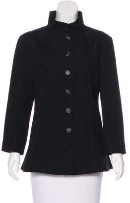 Courreges Wool Button-Up Jacket