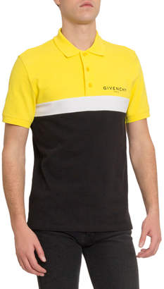 Givenchy Men's Logo Cutout Polo Shirt