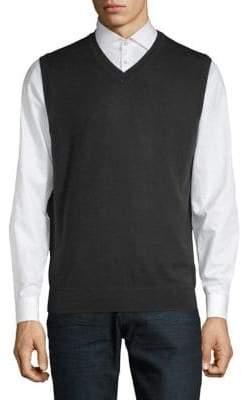 Black Brown 1826 Merino Wool Sweater Vest