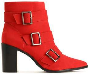 Schutz Buckled Suede Ankle Boots