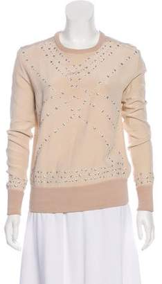 Marchesa Voyage Embellished Knit Top