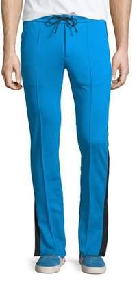 Valentino Contrast-Trim Drawstring-Waist Track Pants
