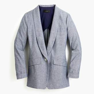 J.Crew Tall unstructured blazer in cotton-linen
