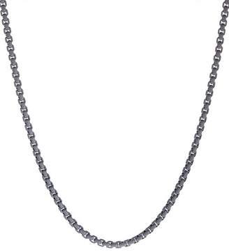 """David Yurman Box Chain Necklace in Gray, 26"""""""