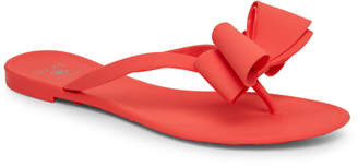 N. Dizzy Matte Bow Thong Sandals