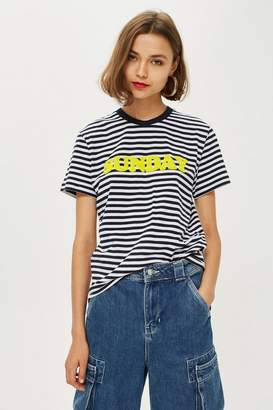 Topshop Tee & Cake Sunday Striped T-Shirt by Tee Cake