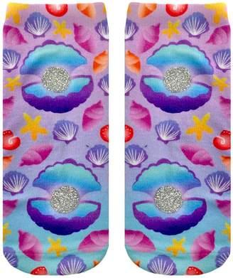 LIVING ROYAL - Seashells Glitter Ankle Socks