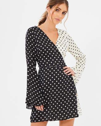 Mirabelle Polka Dot Wrap Dress