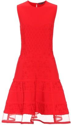 Alexander McQueen Jacquard sheer-hem dress