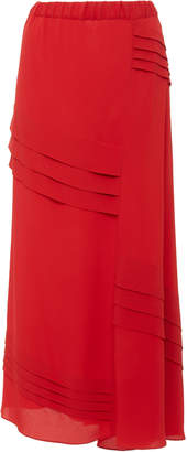 Marni Washed Crepe Midi Skirt