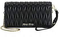 Miu Miu Women's Mini Bandoliera Leather Shoulder Bag