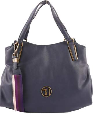 Trussardi Faux Leather Rabarbaro Top Handle Bag
