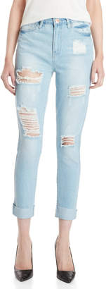YMI Jeanswear Distressed Ankle Skinny Jeans