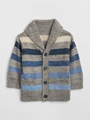 Gap Stripe Shawl Cardigan Sweater