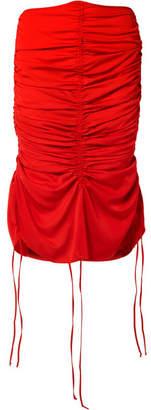 Marques Almeida Marques' Almeida - Ruched Voile Midi Skirt - Red