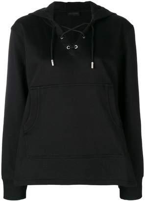 Diesel Black Gold lace up front hoodie