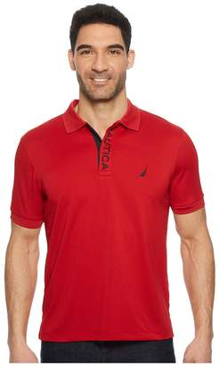 Nautica Short Sleeve Performance Logo Polo Men's Short Sleeve Pullover