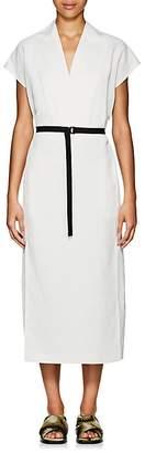 Zero Maria Cornejo Women's Leah Belted Tech-Twill Long Dress