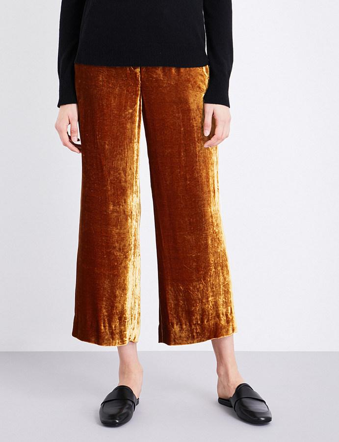 A.L.C.A.L.C Robbie wide-leg velvet trousers
