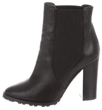 Polo Ralph Lauren Leather Round-Toe Booties