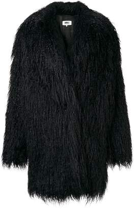 MM6 MAISON MARGIELA faux fur shaggy coat