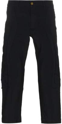 Comme des Garcons Irregular Stitching Cropped Trousers