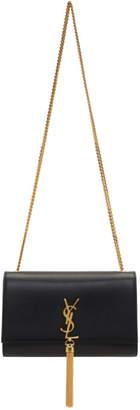 Saint Laurent Black Medium Kate Tassel Chain Bag