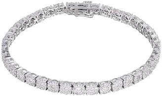 Kohl's 10k White Gold 2 Carat T.W. Diamond Cluster Tennis Bracelet