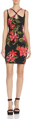 GUESS Serena Strappy Floral Print Dress
