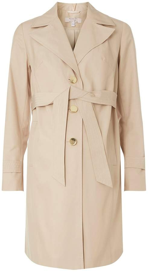 Dorothy Perkins **Maternity Beige Belted Trench Coat