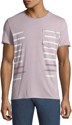 Antony Morato Men's Striped Jersey Pocket T-Shirt