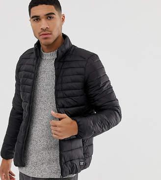 Pull&Bear lightwieght padded jacket in black