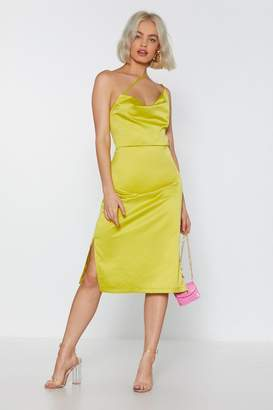 Nasty Gal Don t Worry Be Strappy Satin Dress 8819888f8