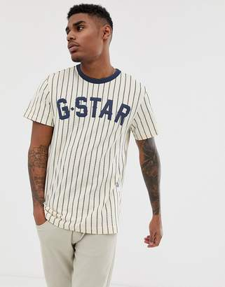 937ac73fe2a G Star G-Star Wabas baseball stripe organic cotton t-shirt in navy