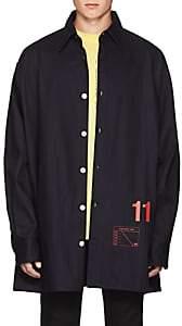 "Raf Simons Men's ""11"" Denim Oversized Shirt Jacket - Navy"