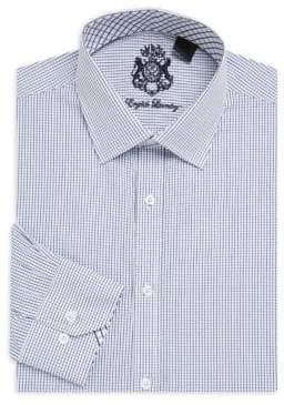 English Laundry Micro Check Cotton Dress Shirt