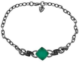 Stephen Webster 925 Sterling Silver Black Rhodium Plated Forget Me Knot Crystal Haze Barb Bracelet