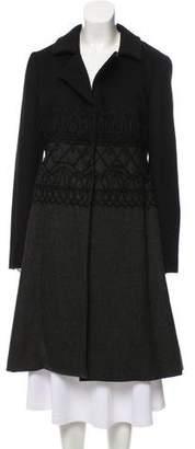 Philosophy di Alberta Ferretti Wool Embroidered Coat