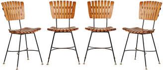Rejuvenation Set of 4 Slatted Umanoff Dining Chairs