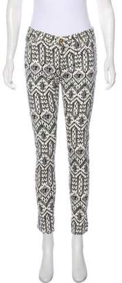 Sass & Bide Low-Rise Printed Jeans