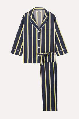 Sleepy Jones Marina Striped Cotton-voile Pajama Set - Navy