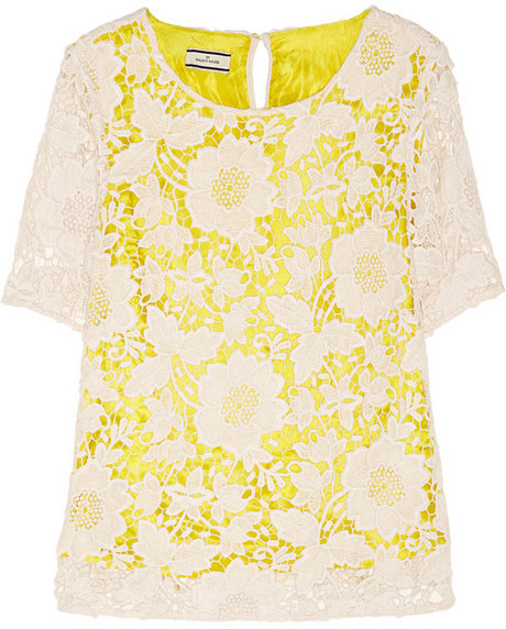 By Malene Birger Voleria two-tone floral-lace top