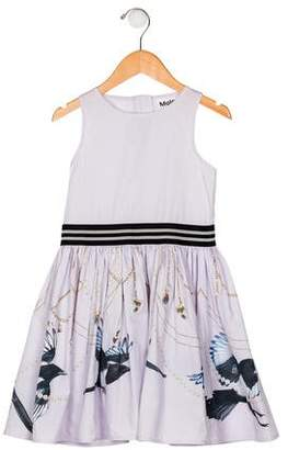 Molo Girls' Printed Pleated Dress