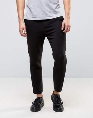 Weekday Arvid slim fit tailored PANTS in black