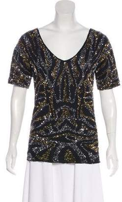Gryphon Sequin Scoop Neck Top