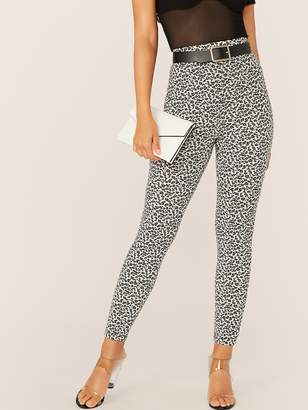 Shein High Waist Animal Print Leggings